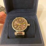 Louis Vuitton Q1131 Stainless Steel Swiss Made Menand039s Watch Japan Shipped