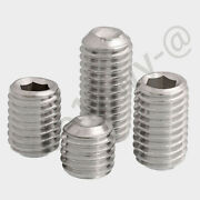 A4 Stainless Steel Set Screws With Cup Point Socket Allen Key Drive Din 916