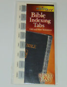 Bible Indexing Tabs, Old And New Testament, Silver Color, Elim Books And Stationery