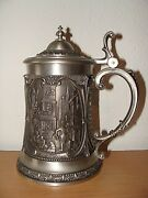 Antique Germanic Tin Collectible Beer Mug Glass Post Office Cup Bowl Dishes