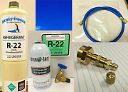 R22 Refrigerant R22 Home Ac Refrigeration 15oz. Can Taper Hose Oil Charge