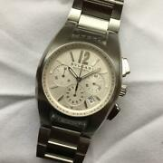 Bvlgari Ergon Chronograph Stainless Steel Wristwatch For Unisex With Box