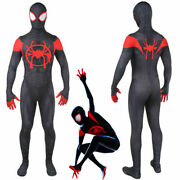 Spider Man Into The Spider-verse Miles Morales Zentai Jumpsuits Cosplay Costume