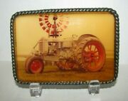 Vintage J I Case Rc Cc Tractor With Rubber Wheels Collectible Belt Buckle
