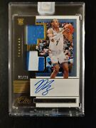 20 One And One Darius Bazley Rookie Dual Jersey Patch Auto Gold Rpa 1/10 Thunder