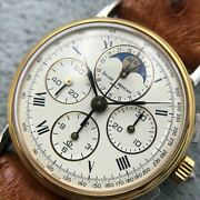Baume And Mercier Geneve Chronograph Cal.bm12883 Wristwatch Shipped From Japan