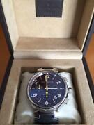 Louis Vuitton Chronograph Brown Dial Automatic Wristwatch With Box Japan Shipped