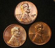 1969-d1970-d 1971-d Misaligned Die Obv Mad Lincoln Cent Mint Error 3 Coins
