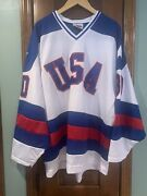 1980 Team Usa Hockey Jersey Miracle On Ice Signed By Jim Craig 1980 Gold