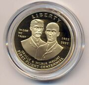 2003-w First Flight 10 Gold Wright Bros Commemorative Coin