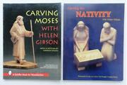 478 2x Wood Carving Books By Helen Gibson Carving Moses And The Nativity Pb