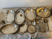 Lot Of 18 Silverplate Bowls Silverware Plates Dish Various Brands