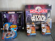 Lot Of Star Wars Monopoly / Playing Cards / Hotwheels And Star Trek Headliners