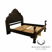Drexel Heritage Tuscany Collection Black And Gold Bramasole King Bed