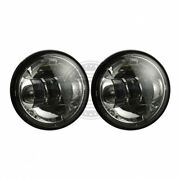 7 Inch Chrome Led Headlight Auxiliary Passing Lamps For Harley Davidson Touring