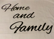 Black Metal Words Wall Art Home And Family Metal Words Decorative Home Decor New