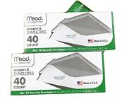Mead White Security Business Legal Envelopes No 10 Size 4 1/8 X 9 1/2 40 Count