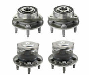 Moog Front And Rear Wheel Bearing And Hub Assemblies Kit For Chevy Bolt Ev Volt