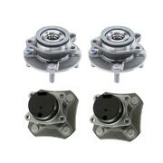 Moog Front And Rear Wheel Bearing And Hub Assembly Kit For Nissan Versa 2007-2012