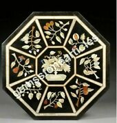 37 Black Marble Conference Table Top Inlay Floral Art Housewarm Gift Decor