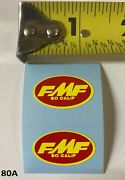 Vmx Fmf Red Carb Decals 1 Vintage Rm Yz Kx Cr 125 250 360 400 500 Mx Set Of 2
