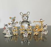 Iris Arc Ebeling And Reuss Spoontique Crystal Bear Lot Of 9