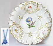 Ceremonial Plate Meissen Gold Flowers Schwertmarke 1. Choice E724