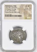 Phoenicia Tyre 126/5 Bc - Ad 65 Silver Shekel Ngc Chvf Money Of The Bible Rare