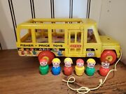 🔥rarevintage🔥1965 Fisher Price Little People School Bus 192