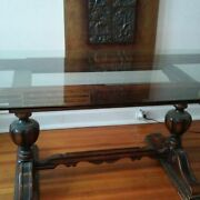 Antique Jacobean Dining Table Base Only
