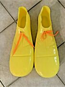 Vintage Plastic Clown Shoes Yellow Costume Made In Usa