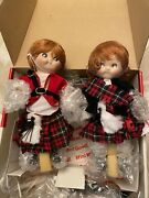 Scottish Boy And Girl Campbell Soup Kids Collectible Porcelain Dolls - New Doll