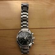 omega Speedmaster Stainless Steel Black Round Watch Shipped From Japan