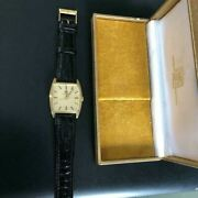 International Watch Co. Solid Gold 18k Square Analog For Adult With Box