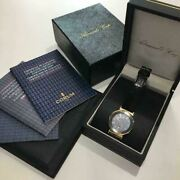 Corum K18 Admiraland039s Cup Analog Wristwatch For Adult Buckle Gun Blue With Box