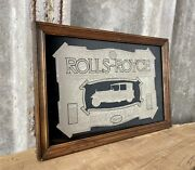 Vintage Stylish Rolls Royce Mirror Advertising Collectibles Transport Cars