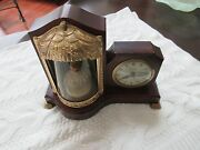United Sessions Animated Ballerina Girl Music Box Lighted Motion Clock Vintage