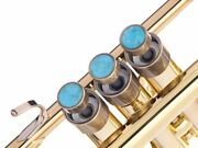 Trumpet Trim Kit For Yamaha Heavy Antique Bronze Lacquer With Stones Turquoise