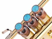 Trumpet Trim Kit For Yamaha Heavy Antique Copper Lacquer With Stones Turquoise