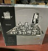Berghoff 10pcs Stainless Steel Afternoon Tea Double Walled Coffee Cup Set
