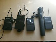 Azden 100upr Wireless Microphone 2 Uhf Receiver And 2 Uhf Transmitters 10bt
