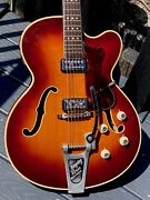 1964 Hofner President 5122 Brunette Thinline 2 All Original Early 60and039s Features