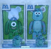 Medicom Toy Be@rbrick Sulley And Mike 1000 Monstersinc. Disney Pixar From Japan