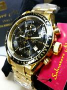 Salvatore Marra Italy 10th Anniversary Gold Analog Wristwatch Shipped From Japan