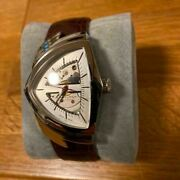 Hamilton Ventura Automatic H245150 Leather Analog Wristwatch Shipped From Japan