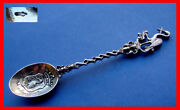 Gorgeous Antique Spoon, Stork, Holland, Haag, Silver D237