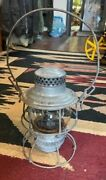 Adams And Westlake Co. Icrr Railroad Lantern Clear Globe 9 Tall Without Handle