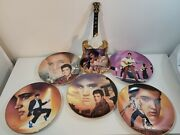 Vintage Elvis Presley Wall Plates Set Of 6 Collection Plates With Wood Frames