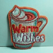 Boy Girl Cub Warm Wishes Hot Chocolate Fun Patches Crests Badge Scout Guides New