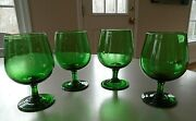 Vintage Footed Blown Glass Stemware Glasses Made From Recycled Sprite Bottles